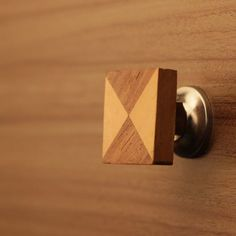 Double Triangle Resin Wood Drawer Knob   Fusion Door Knobs & Pulls ...