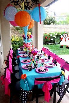 Alice in Wonderland party chair sash