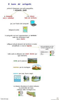 Mappe per studiare - scuola primaria e secondaria di primo grado Italian Language, Aba, Geography, Chart, Learning, School, Cartography, Study, Teaching