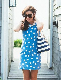 The Blueberry Classic Linen Shift Dress for $185 as seen on Sarah Vickers! Summer Dresses start with Island Company...