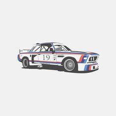 BMW CSL Turbo by Marc Carreras, via Behance