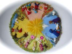Filz-Wandbild 4 Jahreszeiten.Waldorf. von Filz-Art. auf DaWanda.com