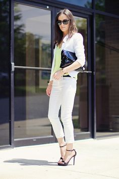 Classy and fabulous: Summer Whites + Neon