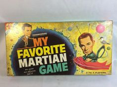 Vintage Transogram My Favorite Martian Board Game 1963 TV Show Complete…
