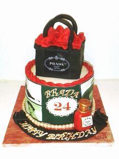 Tarta regalo de Prada