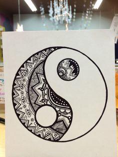 Yin yang doodle