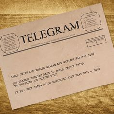 In Love With This Telegram Save The Date Gabi Scott