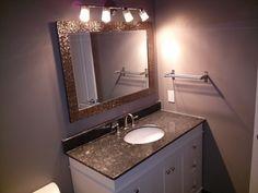 barrhaven bathroom cool lighting Cool Lighting, Toms, Vanity, Mirror, Cool Stuff, Bathroom, Frame, Furniture, Home Decor