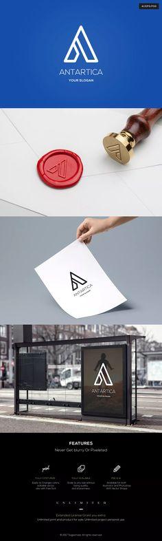 "Antartica Letter ""A"" Logo Template AI, EPS, PSD #unlimiteddownloads"