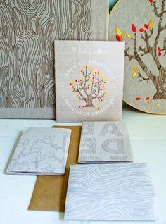 4 Seasons of Embroidery Packet from Purl Soho: Purl Soho has teamed up with our friends Egg Press to create the embroidery designs of our dreams! Four beautiful images depict a year in the life  of a tree, from a serene winter and a bubbly spring to a verdant summer and a resplendent autumn.