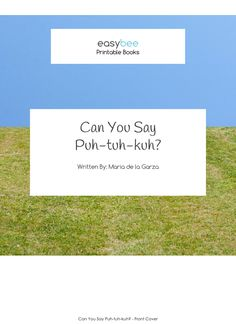 Puhtuhkuh- A Diadochokinetic Rate Practice Printable Book - Easybee Gadget World, Little Books, Speech And Language, Speech Therapy, Book Series, Puns, Printables, Teacher, Student
