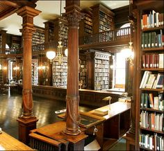 Library of the Brooklyn Historical Society (completed George B. Post, architect), one of the most beautiful rooms in New York. Library Study Room, Dream Library, Library Books, Archive Library, Home Libraries, Public Libraries, South Shore Decorating, Beautiful Library, New York Photos