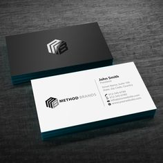 Create a standout business card design for Method Brands Business card contest winning