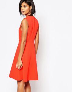 Изображение 2 из Фактурное оранжевое платье Whistles