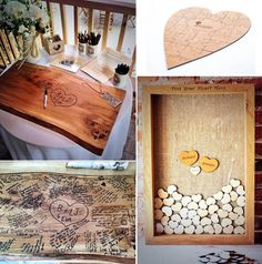 Wooden Guest book ideas from The Wedding Tree Company