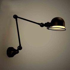 Amazon | Fuloon ブラケットライト アンティーク調 照明器具 角度調節可能 おしゃれ かっこいい スポットライト 電球別売 壁掛け照明器具 (ブラック) | Fuloon | ブラケットライト 通販