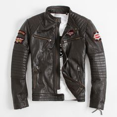 Find More Leather & Suede Information about Embroidery Motorcycle Jackets…