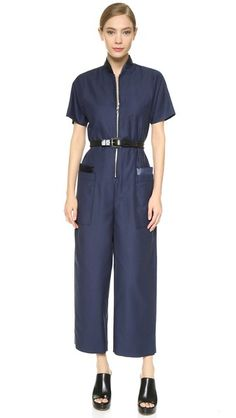 Victoria Victoria Beckham Zip Through Jumpsuit
