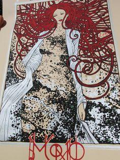 MONO european tour silkscreen by MALLEUS Rock Art Lab , via Behance