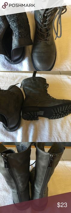 Grey boots size 10 Torrid Size 10 women grey zipper back boots from Torrid torrid Shoes Combat & Moto Boots