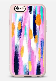Pink n Navy Abstract iPhone 6s case by Allyson Johnson   Casetify