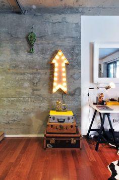 Casinha colorida: Industrial Chic com adorável toque retrô