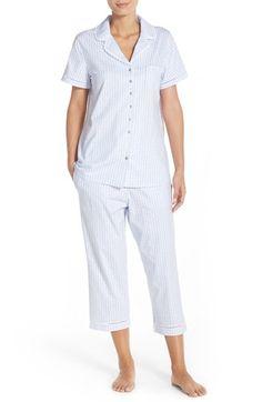 Women s Eileen West Print Cotton Capri Pajamas Maternity Activewear fff7be96b