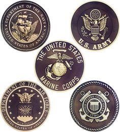 armed forces emblems...Thank you to all the men and women who defend our freedom in the past, the present, and the future. <3