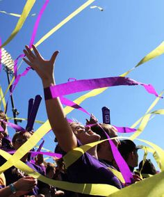 Enveloped in streamers! Click to purchase photo from the JMU Photo Store.