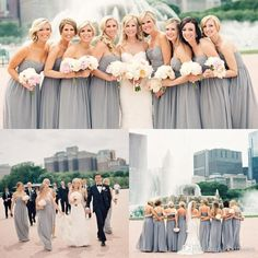 Ugly Bridesmaid Dress Beach 2015 Cheap Chiffon Long Bridesmaid Dresses Gray Sweetheart A Line Floor Length Plus Size Gowns For Wedding Custom Made Bridesmaid Dresses From Topdresses, $88.07| Dhgate.Com