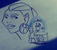 #Drawing #bunny #tea