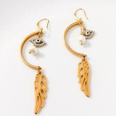 Wings Wings, Drop Earrings, Personalized Items, Jewelry, Fashion, Moda, Jewlery, Jewerly, Fashion Styles