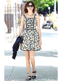 We found Alexa Chung's printed sundress. Right this way!