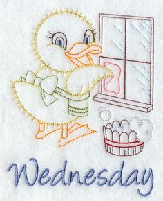 Image by EMBROIDERY LIBRARY INC - Spring Cleaning Duck on Wednesday
