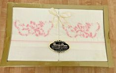 Vintage Bedding, Embroidered Pillowcases, Floral Ribbon, Ribbon Embroidery, Bed Pillows, Pillow Cases, Handmade Items, Pattern, Pink
