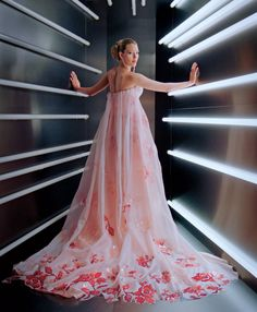 Pale Fire - Vogue.com's inventive video-portrait studio delivered short vignettes, directed by Gordon von Steiner, to the public via Instagram. Here, Blake Lively shows off the regal train of her Burberry gown, which featured hand-dyed and -sewn laser-cut petals.     Producer: Kelly McGee for GVS Studio; Set Design: Daniel Graff for Mary Howard Studio; Lighting Design: Fletcher Wolfe Video Editors: Alvaro Colom, Andrew Rothschild, Billy Nawrocki; Special Thanks: Steven Dam