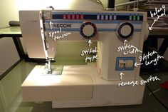 Sewing machine 101. Actually super extra handy for me bc while that is not my exact Necchi model it is a close cousin.