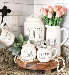 farmhouse kitchen 720224165396343918 - Inspirational Farmhouse RAE DUNN Tiered Trays – The Cottage Market decoration Source by Farmhouse Kitchen Decor, Farmhouse Design, Home Decor Kitchen, Kitchen Ideas, Modern Farmhouse, Kitchen Decorating Themes, Coffee Kitchen Decor, White Farmhouse, Kitchen Counter Inspiration