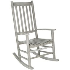 Safavieh Krista Rocking Chair Grey Wash ($156) ❤ liked on Polyvore featuring home, outdoors, patio furniture, outdoor furniture, acacia outdoor furniture, safavieh, safavieh patio furniture, acacia wood outdoor furniture and safavieh outdoor furniture
