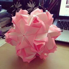 This is one of my favorites <3  Little Roses Kusudama by Maria Sinayskaya