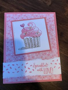 Stamping Up Cards, Rubber Stamping, Cupcake Card, Slider Cards, Sweet Cupcakes, Kids Birthday Cards, Cricut Cards, Totems, Kids Cards