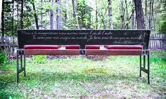 Banc en bois et acier / Wood and steel bench on Behance