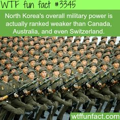 Can we remember this!? It still blows my mind that bc of North Korea an American film is being censored. North Korea's Military power -  WTF fun facts