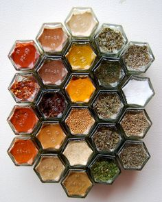 Custom WALL Magnetic Spice Rack Includes 24 EMPTY by GneissSpice