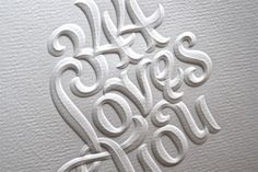Embossed on a lovely, textured paper, the lettering is wonderfully rendered with an emboss die of various levels and texture that take it beyond your typical emboss.