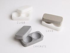 A modern contact lens case designed for refined simplicity.