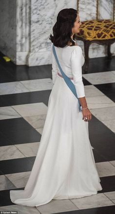 Crown Princess Mary of Denmark participated in New Year's Reception for the Diplomatic Corps at Christiansborg Palace, Copenhagen 2016-01-05