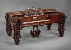 This square piano was built by Robert Nunns and John Clark in New York in 1853