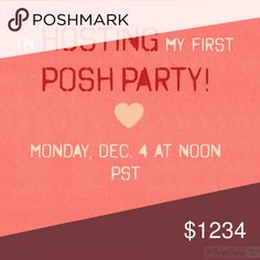 I'm hosting a Posh Party! The theme will be Best in Jewelry & Accessories. Please leave me a note below if you'd like me to check out your closet for Host Picks! Compliant closets only, please. And I'd love to find people who have never had a HP! 💕 Other