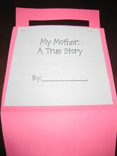 """My Mother: A True Story""; a purse full of ""mom facts""...fun for nonfiction writing!"